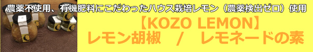 KOZO LEMONシリーズ レモン胡椒 レモネードの素